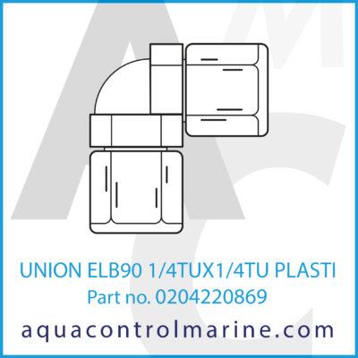 UNION ELB90 1/4TUX1/4TU PLASTIC