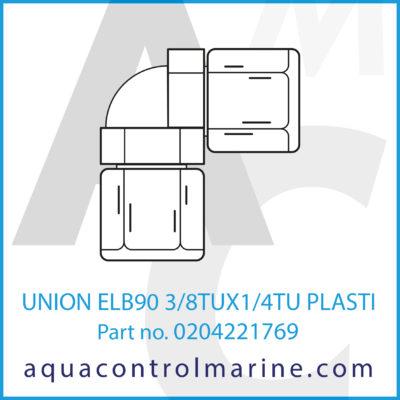 UNION ELB90 3/8TUX1/4TU PLASTIC