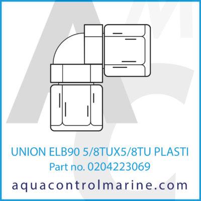 UNION ELB90 5/8TUX5/8TU PLASTIC