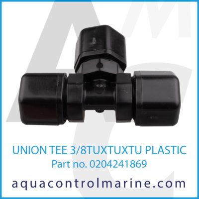 UNION TEE 3/8TUXTUXTU PLASTIC