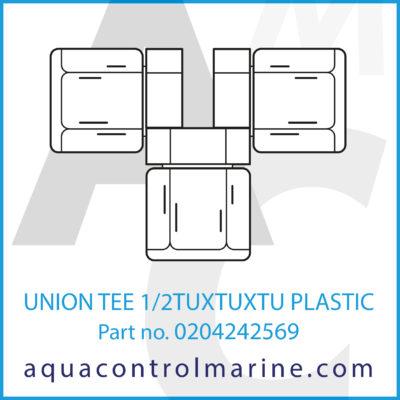UNION TEE 1/2TUXTUXTU PLASTIC
