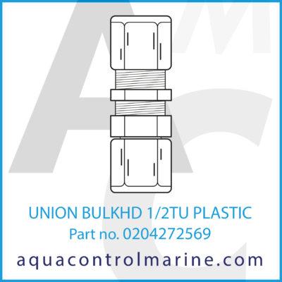 UNION BULKHEAD 1/2 INCH TUBE PLASTIC