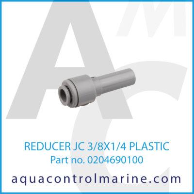 REDUCER JC 3/8X1/4 PLASTIC