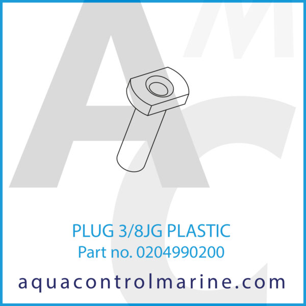 PLUG 3_8JG PLASTIC