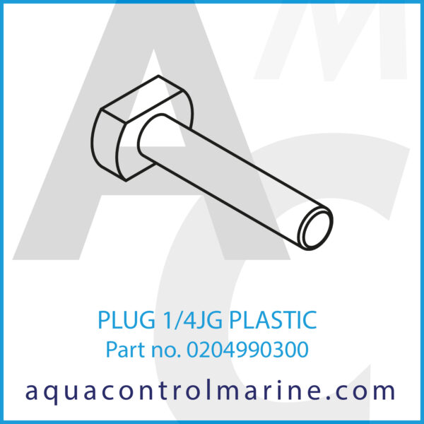 PLUG 1_4JG PLASTIC