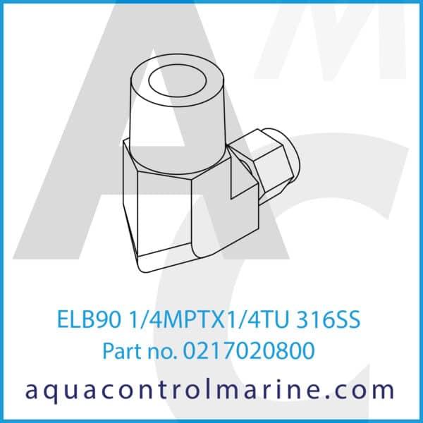 ELB90 1_4MPTX1_4TU 316SS
