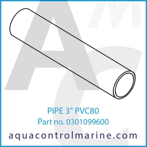 PIPE 3inch PVC80
