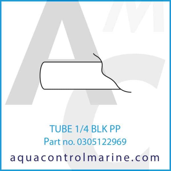 TUBE 1_4 BLK PP