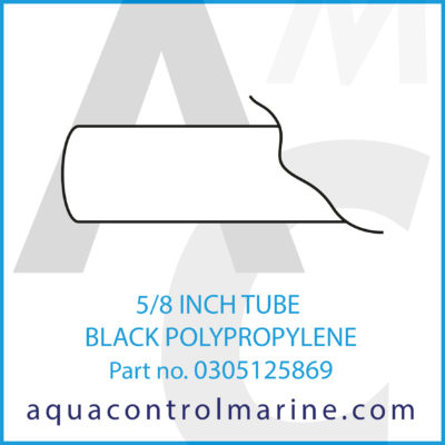 5/8 INCH TUBE BLACK POLYPROPYLENE