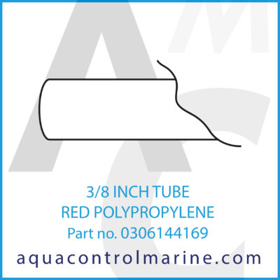 3/8 INCH TUBE RED POLYPROPYLENE