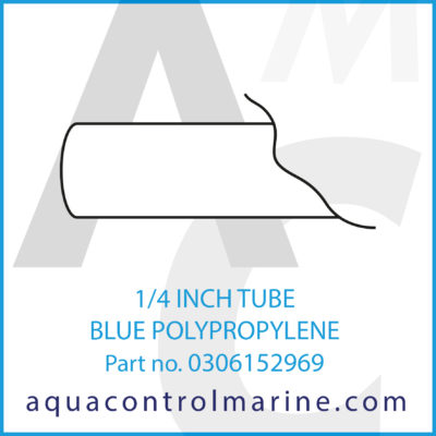 1/4 INCH TUBE BLUE POLYPROPYLENE