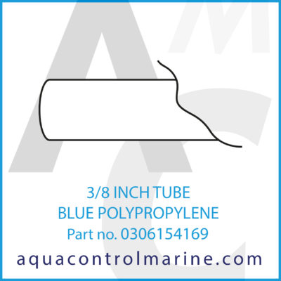 3/8 INCH TUBE BLUE POLYPROPYLENE