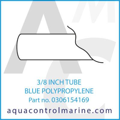 3/8 INCH TUBE BLUE POLYPROPYLENE