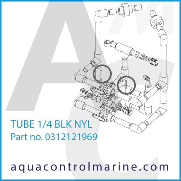 TUBE 1_4 BLK NYL - part