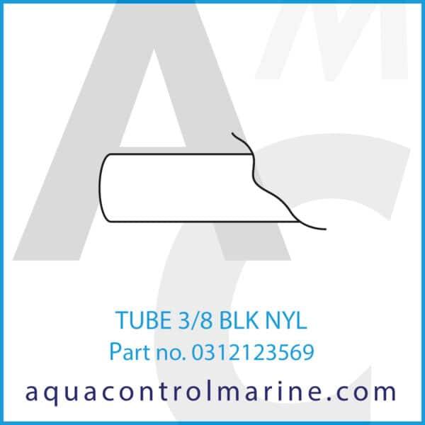 TUBE 3_8 BLK NYL