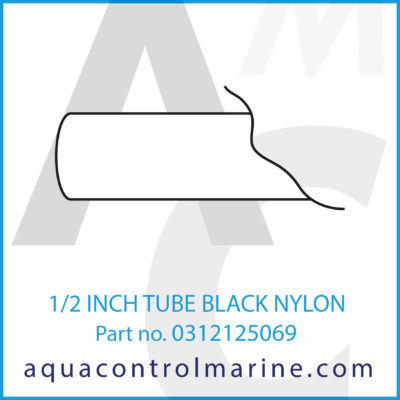 1/2 INCH TUBE BLACK NYLON