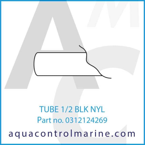 TUBE 1_4 HP WHT NYL
