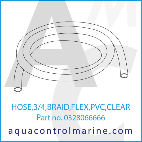 HOSE,3_4,BRAID,FLEX,PVC,CLEAR