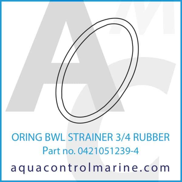 ORING BWL STRAINER 3_4 RUBBER