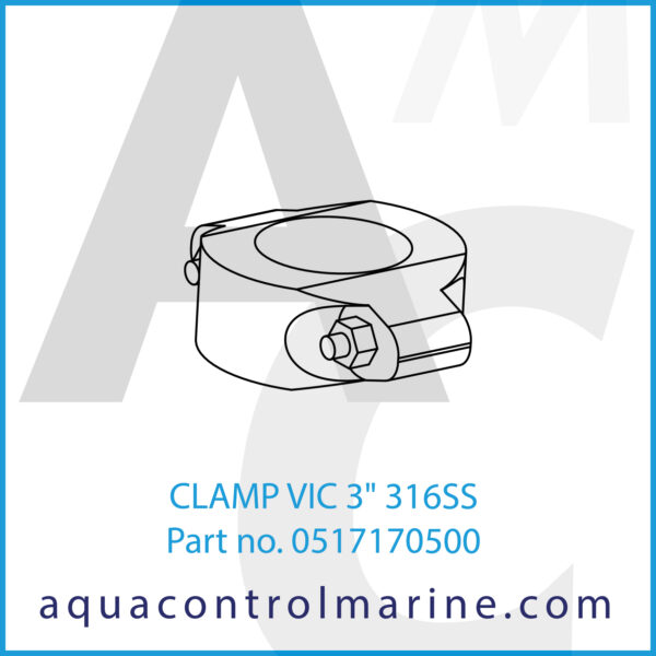 CLAMP VIC 3inch 316SS