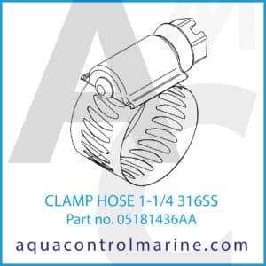 CLAMP HOSE 1-1_4 316SS