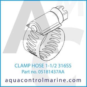 CLAMP HOSE 1-1_2 316SS