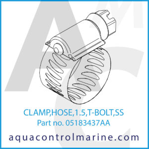 CLAMP,HOSE,1.5,T-BOLT,SS