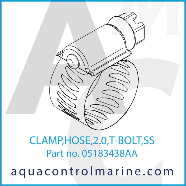 CLAMP,HOSE,2.0,T-BOLT,SS