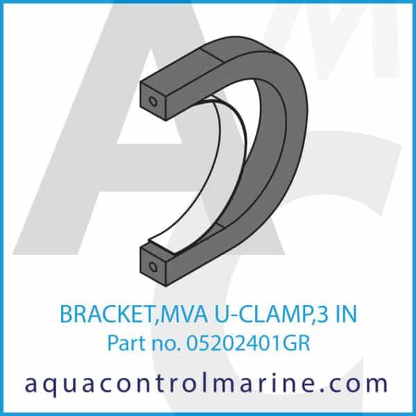 BRACKET,MVA U-CLAMP,3 IN
