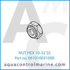 NUT HEX 10-32 SS