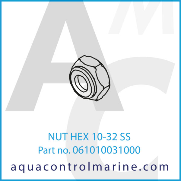 NUT HEX 10-32 SS