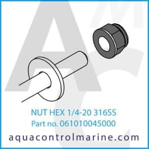 NUT HEX 14-20 316SS