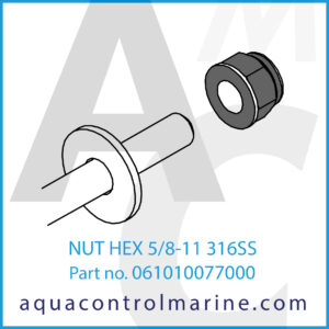 NUT HEX 5_8-11 316SS