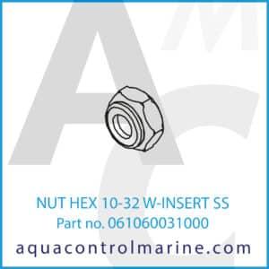 NUT HEX 10-32 W-INSERT SS