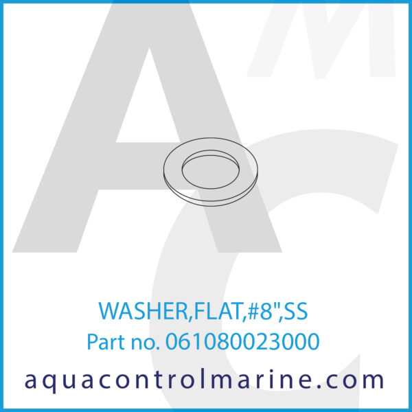 WASHER,FLAT,#8inch,SS