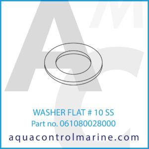 WASHER FLAT # 10 SS