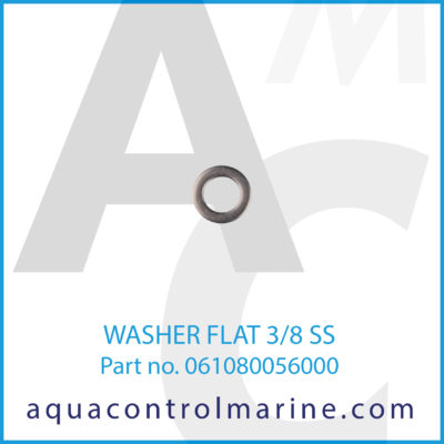 WASHER FLAT 3/8 SS