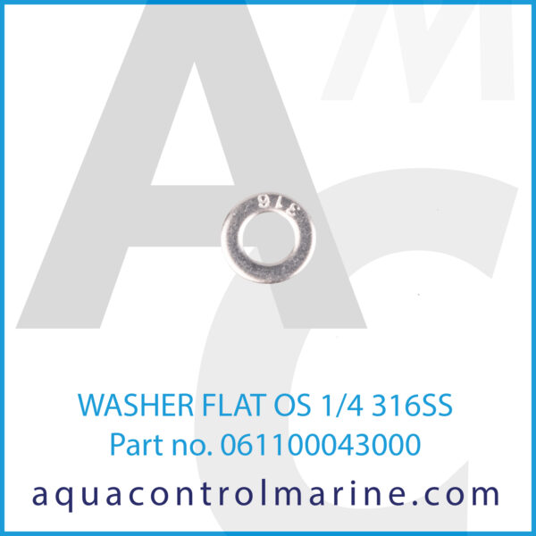 WASHER FLAT OS 1_4 316SS - 2
