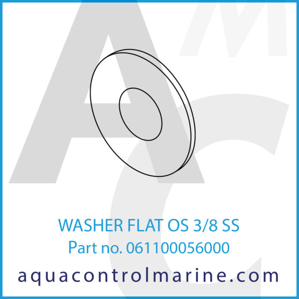 WASHER FLAT OS 3_8 SS