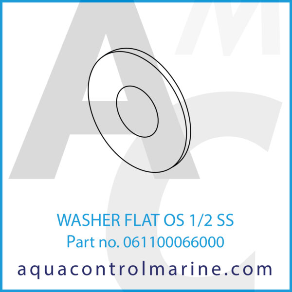 WASHER FLAT OS 1_2 SS