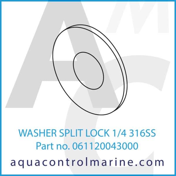 WASHER SPLIT LOCK 1_4 316SS