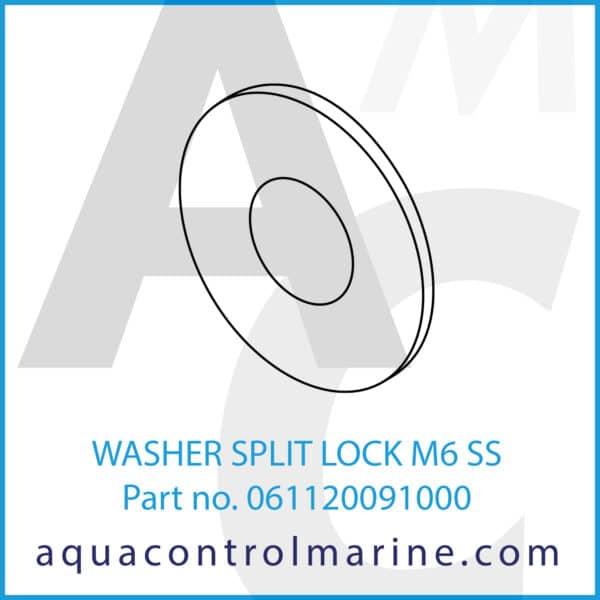 WASHER SPLIT LOCK M6 SS