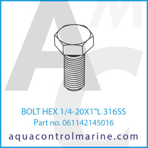 BOLT HEX 1_4-20X1inchL 316SS