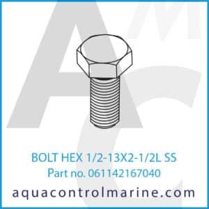 BOLT HEX 1_2-13X2-1_2L SS