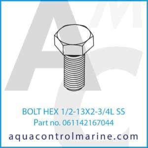 BOLT HEX 1_2-13X2-3_4L SS