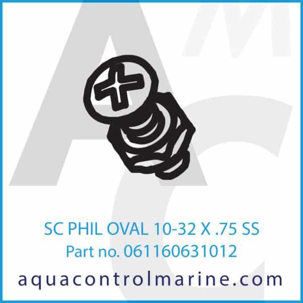 SC PHIL OVAL 10-32 X .75 SS