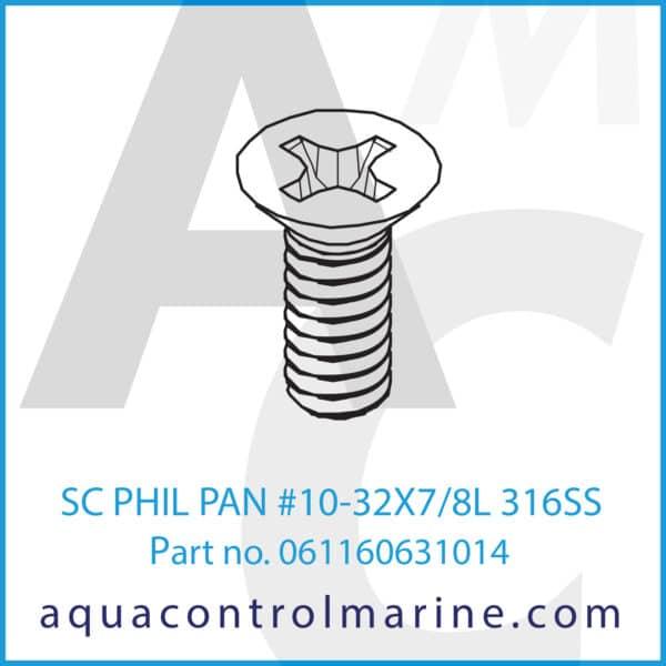 SC PHIL PAN #10-32X7_8L 316SS
