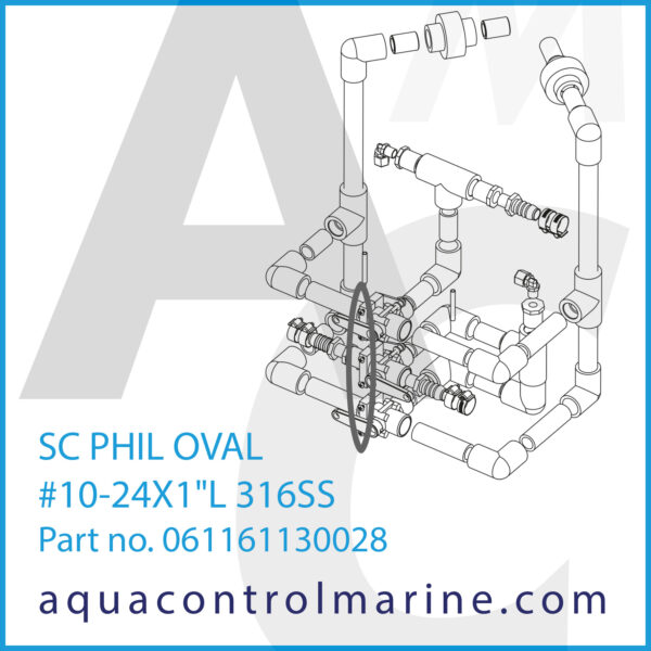 SC PHIL OVAL #10-24X1inch L 316SS