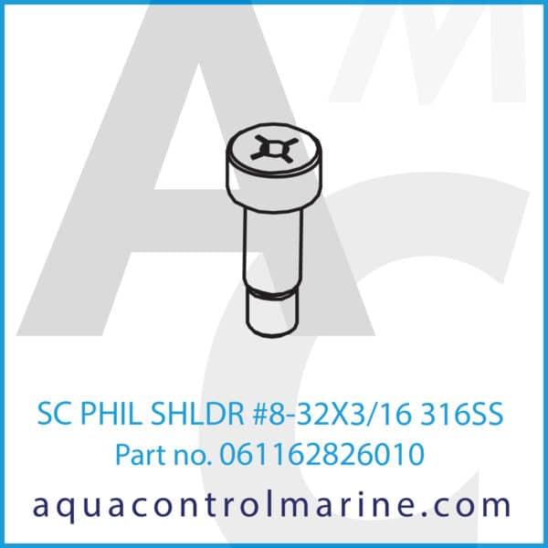 SC PHIL SHLDR #8-32X3_16 316SS