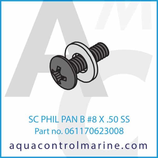 SC PHIL PAN B #8 X .50 SS